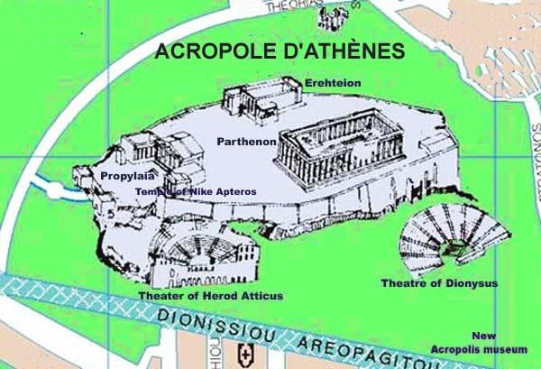 Plan général de l'Acropole